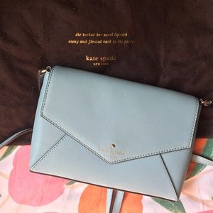 Light blue kate spade envelope crossbody